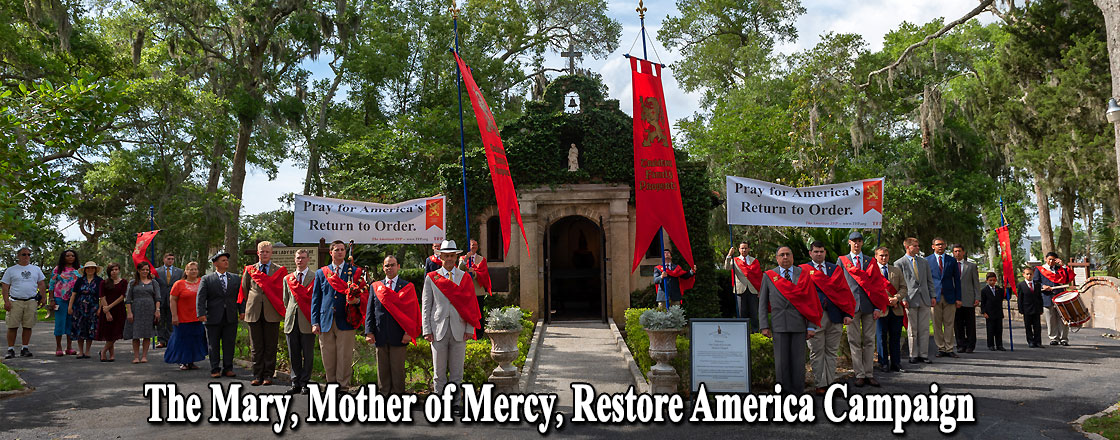 The Mary, Mother of Mercy, Restore America Campaign