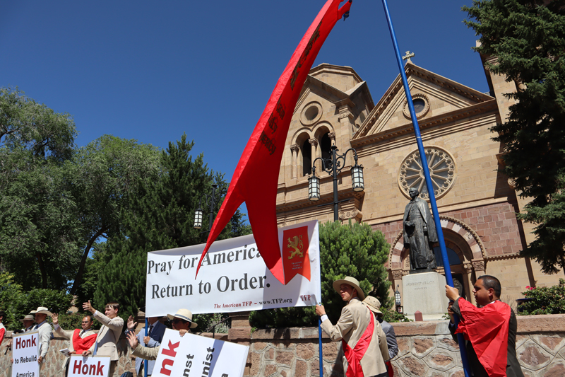 Catholics in New Mexico Take a Stand for God, Queen, and Country