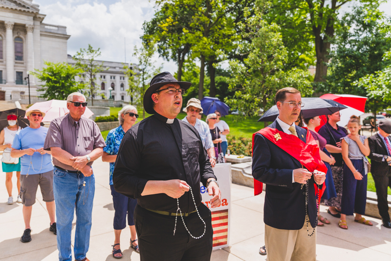 A Rosary Rally for America Amid Thunder and Devastation