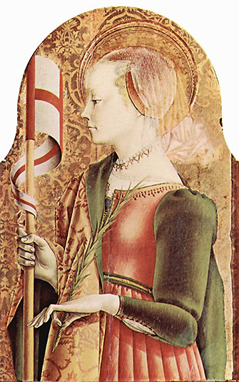 Saint Ursula and her 11,000 virgin handmaids were martyred by pagans