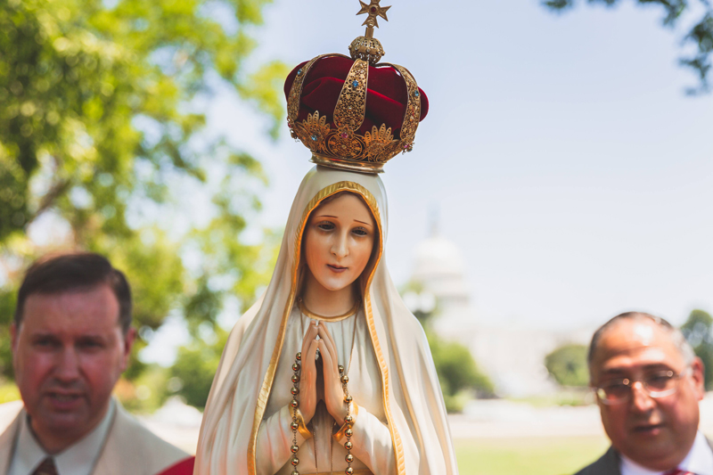 The International Pilgrim Virgin Statue of Our Lady of Fatima