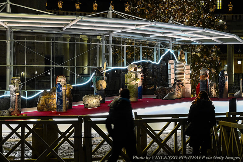 Pope Francis's Idolatrous Nativity Scene Is the Opposite of Saint Francis's